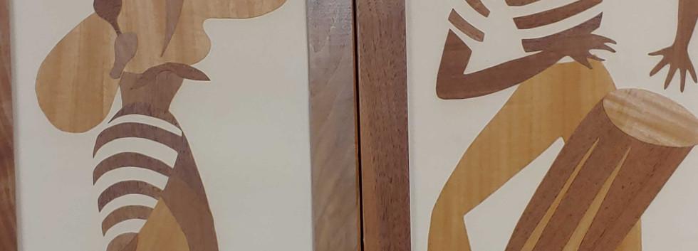 "Vaneer Wood Art - 14""x33"""