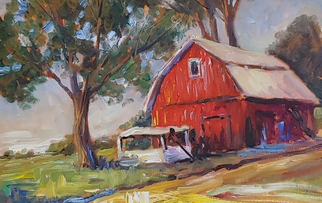 Barn Scene Painting - 16x19