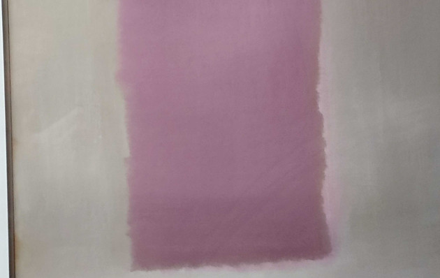 Pink, Grey, Brown Abstract Print 1of 2 - 22x28