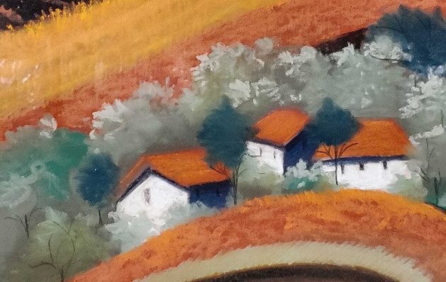 Meadow & Farmhouse Print 22x22