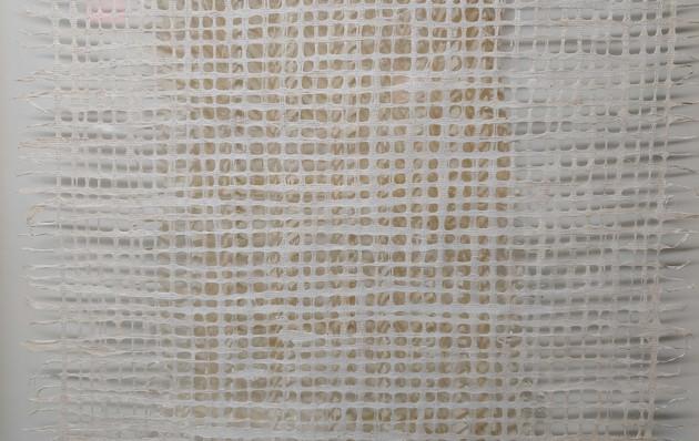 Layered White Fabric - 25x25