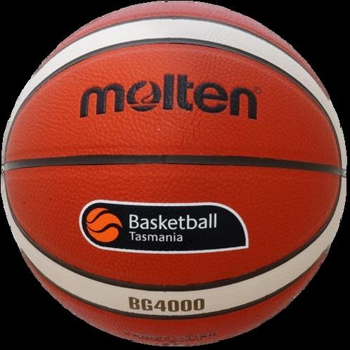 Molten BG4000 2021 OFFICIAL MATCH BALL  Basketball Tasmania Logo