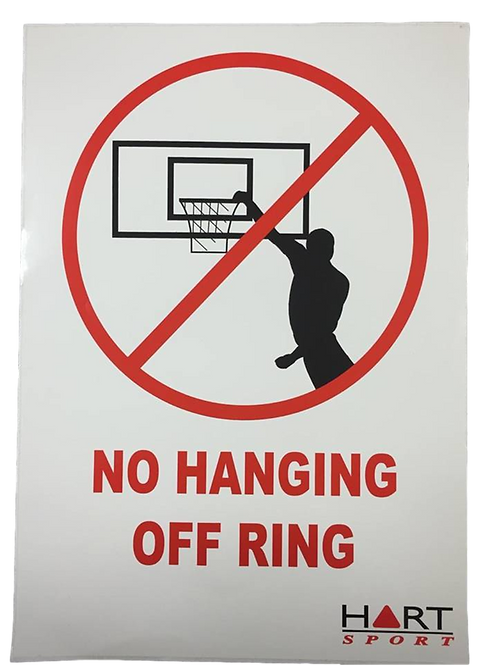 No Hanging On Ring Sign