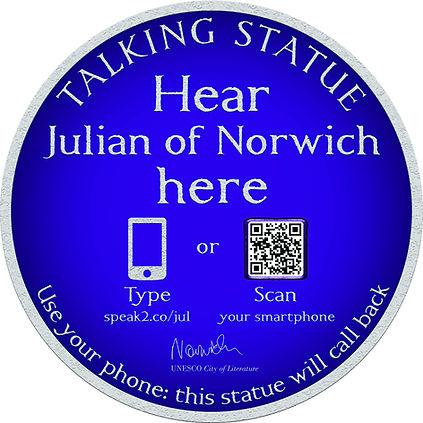 Talking Statue - Norwich (Julian of Norw