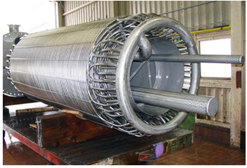 Helical coil for recuperator