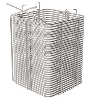 stainless steel tube square shape helical coil heat exchanger for beer machine
