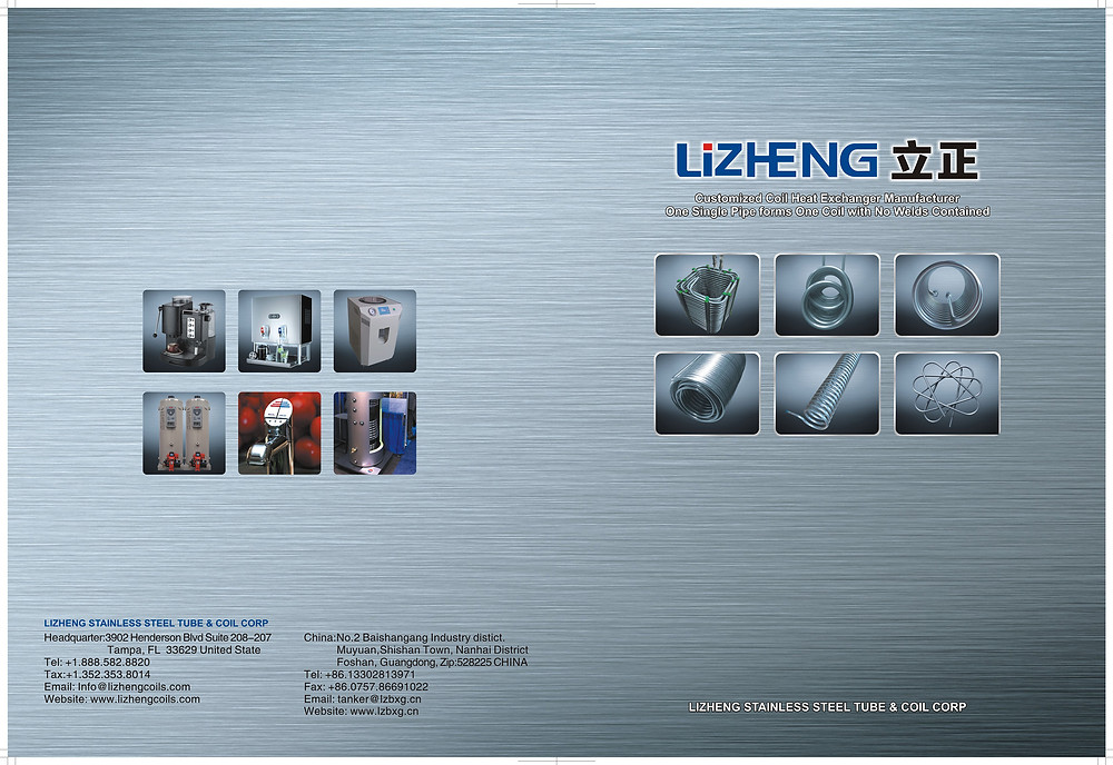 Lizheng stainless steel coils and applications on indirect water heaters