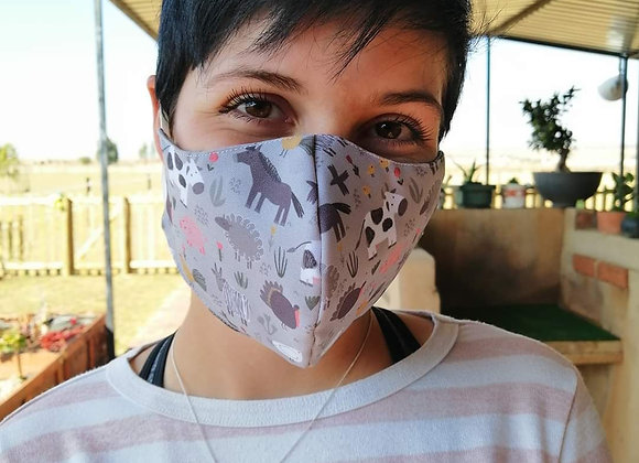 Farm Animal Print Face Mask