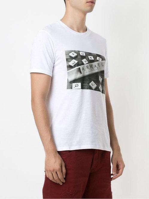 Camiseta AX - Branca Estampada