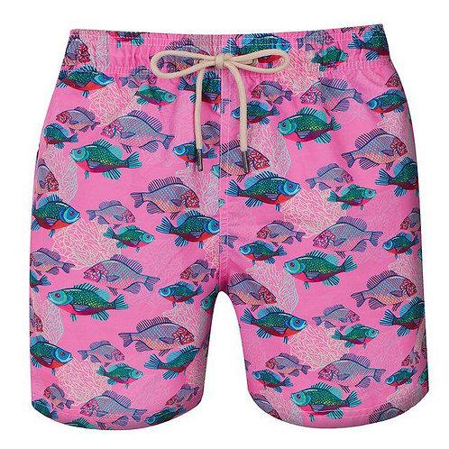 Shorts Swim - Peixes Rosa