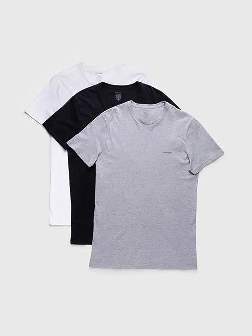 Kit Camisetas Diesel Gola Redonda - Preto/Branco/Cinza
