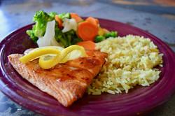 Mollies Kountry Kitchen Salmon Dinner