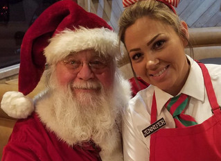 Mollie's visited by Santa