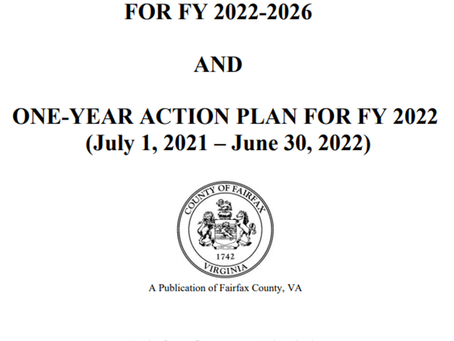Fairfax County Board Adopts 5-Year Consolidated Plan, FY 2022 Action Plan
