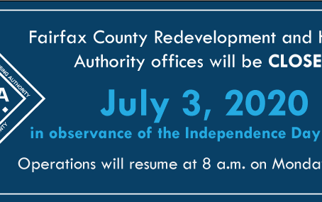 FCRHA Offices Closed July 3 in Observance of Independence Day Holiday