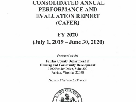 Available for Public Comment: Consolidated Annual Performance and Evaluation Report for FY 2020
