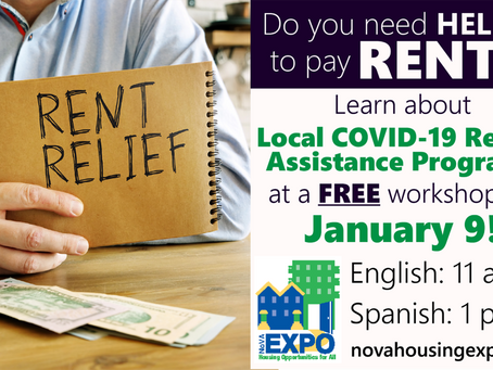 Learn About Local COVID-19 Rental Assistance Programs at Free NOVA Housing Expo Workshop