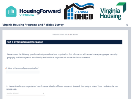 Virginia Housing Providers Invited to Participate in Statewide Housing Study