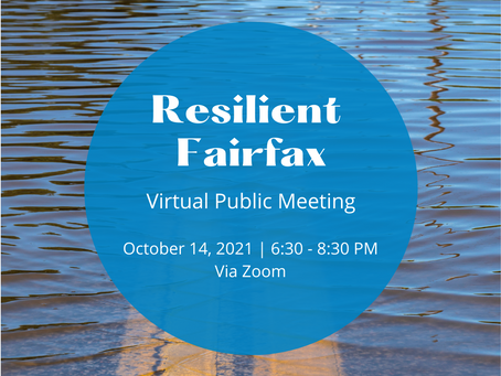 Public Meeting to Focus on Resiliency of Fairfax Communities Amid Climate Change