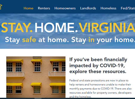 StayHomeVirginia.com: Housing Resources for Those Impacted by COVID-19