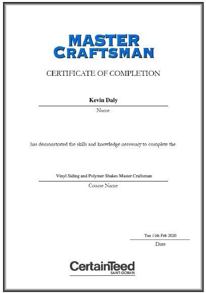Master Craftsman Roofer