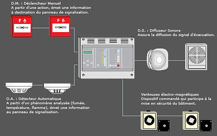 alarme type 4 type 2 coordinateur ssi incendie