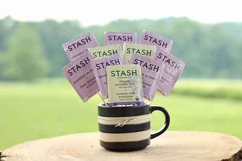 lavender herbal tea bouquet black tea gift in mug