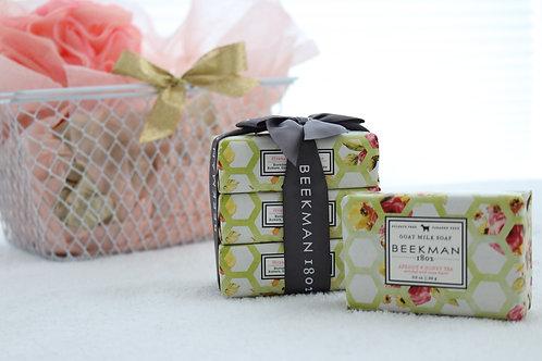 gift basket tea lover soap beekman 1802 ribbon tied