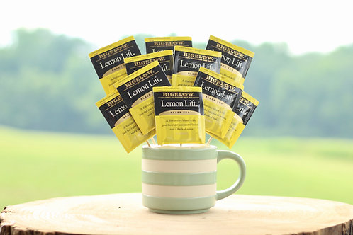 lemon tea bouquet gift in mug