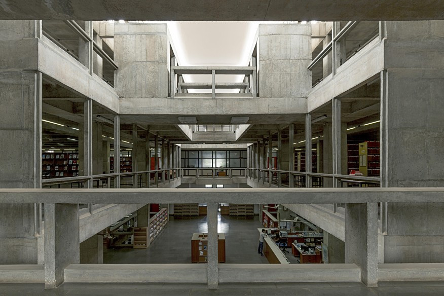 Courtesy VSF; The Pritzker Architecture Prize Indian Institute of Management, Bangalore (1977–1992) in Bangalore, India