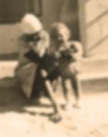 Tanganyika childhood - Mwamvua and baby Florence in Dodoma