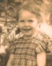 Tanganyika childhood - Flo aged 4 in Dodoma
