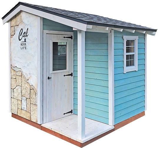 Calマガジン編集部とグリーンベルで作った小屋です。