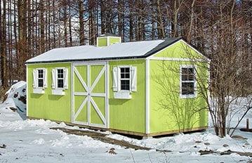 広い収納の自作ガレージ小屋キットです。