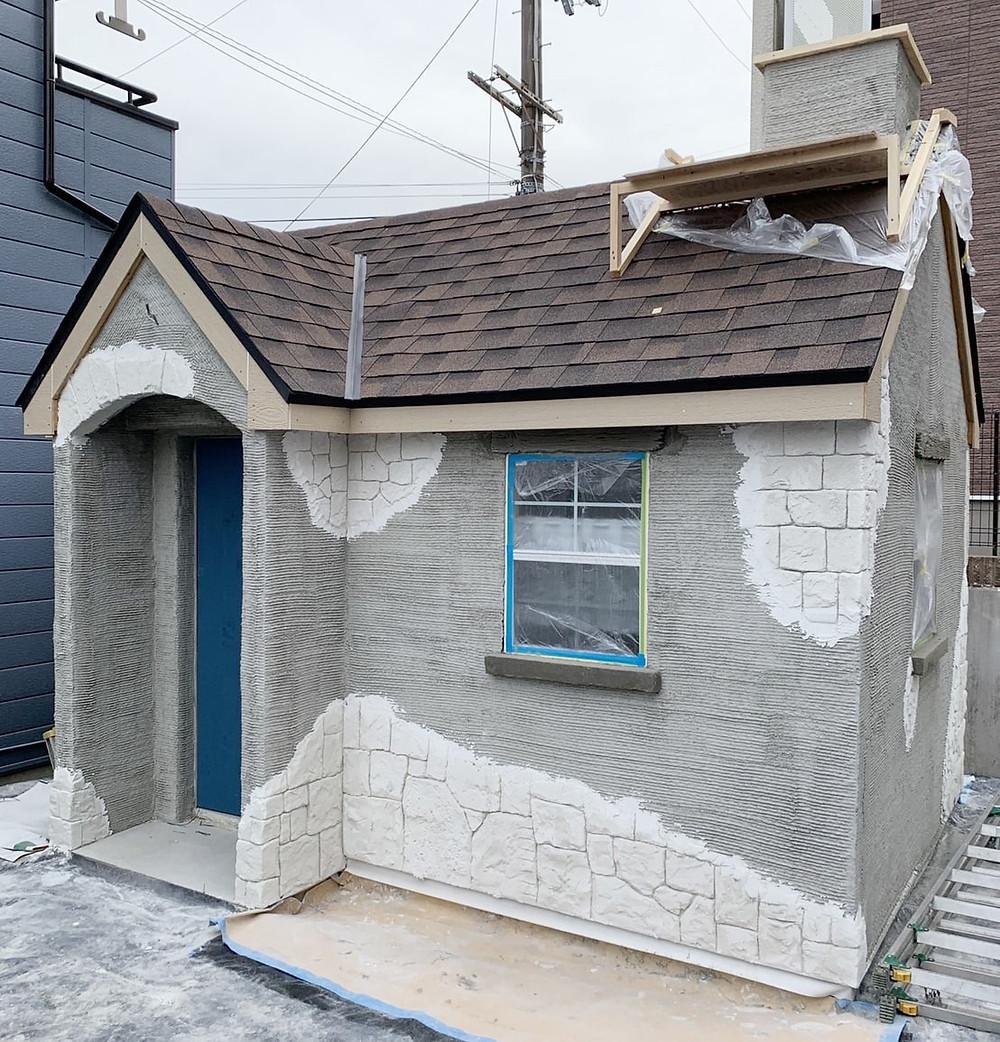 イロドリプロジェクトモルタル造形小屋施工1