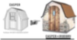 小屋をモルタル造形に変更します。