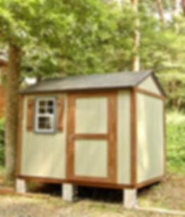 お庭にマッチする物置小屋です。