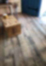 小屋の内装床
