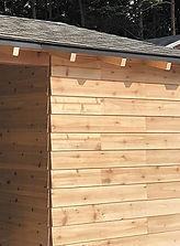 Cal小屋の外壁は福杉です。