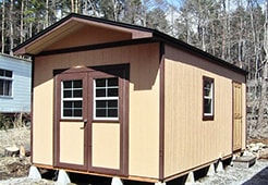 広い収納の物置小屋キットです。