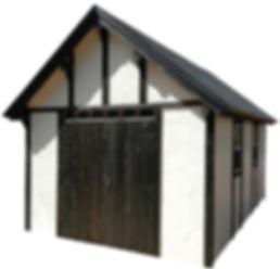 欧風物置小屋のスタッコ10です。