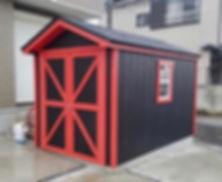 小屋の塗装色は自由です。