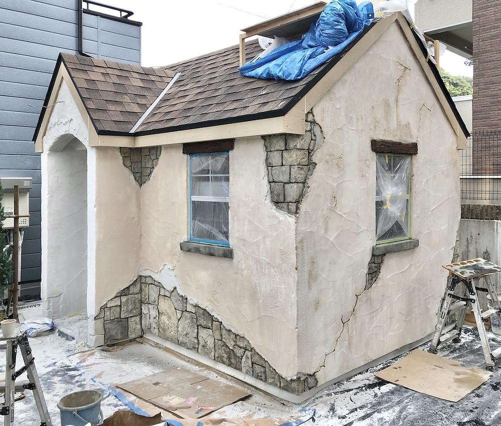 イロドリプロジェクトモルタル造形小屋施工3