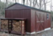 薪小屋になる物置キットです。