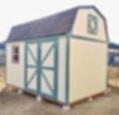 広い収納の手作り物置小屋です。