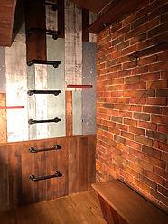 レンガの壁の内装です。
