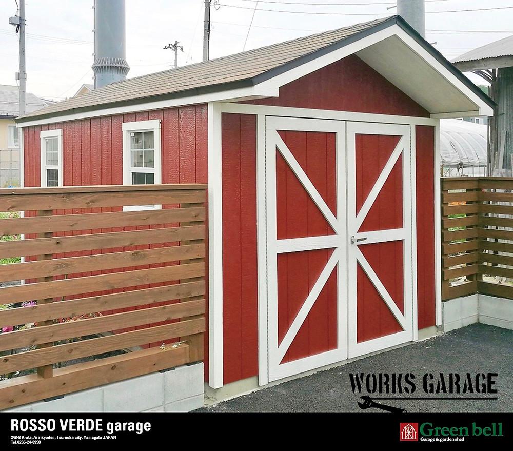 バイクガレージのワークスガレージはバイク2台を収納できて、おしゃれな秘密基地として隠れ家として、または物置小屋としても使用できる便利なガレージなのです。
