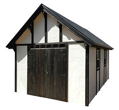 スタッコ10は北欧スタイルの存在感ある物置小屋です