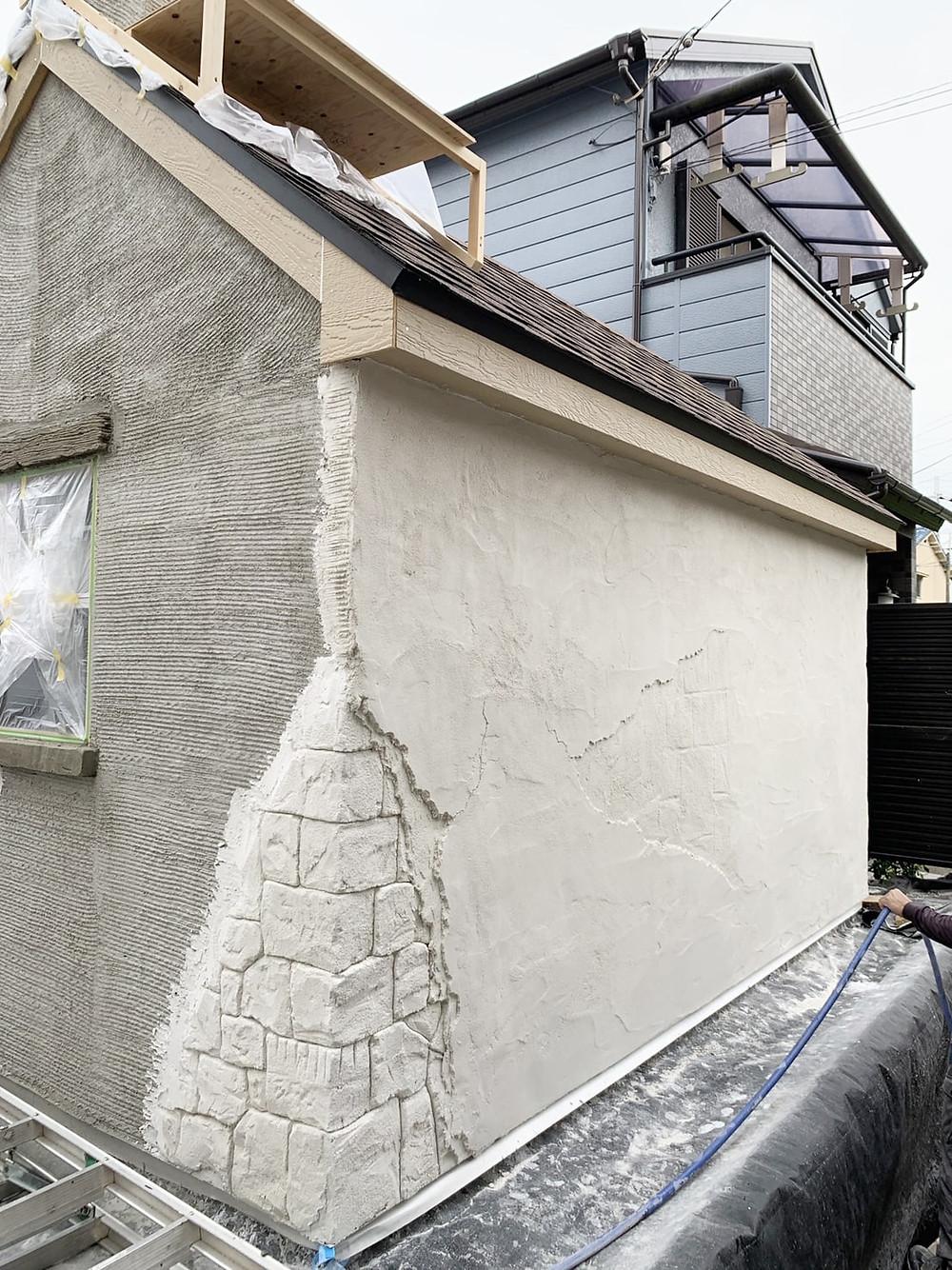 イロドリプロジェクトモルタル造形小屋施工2