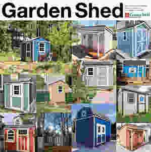 庭に置いて自慢したくなるような、おしゃれな物置が揃っています。木製物置小屋なので組み立ても簡単、DIYで建てられます。